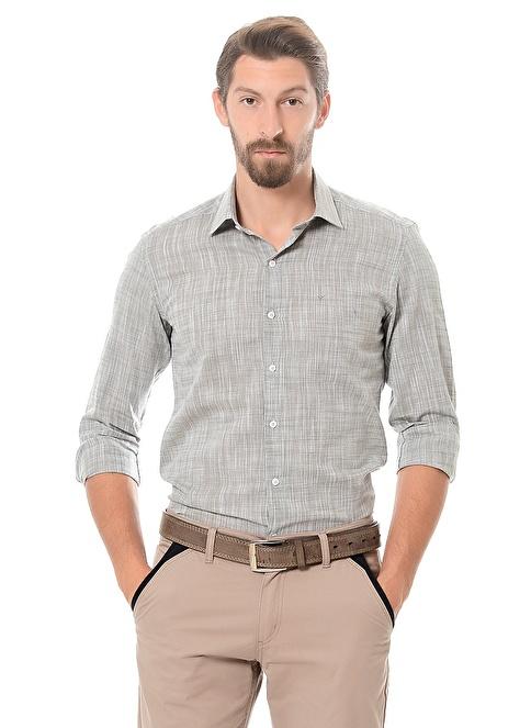 Wessi Slim Fit Uzun Kollu Gömlek Yeşil